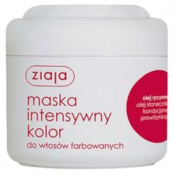 """Маска для волос """"Интенсивный цвет"""" с касторовым маслом Ziaja"""