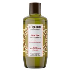 """Масло-шампунь """"O'BERIG"""" ЯИЧНО-ПАНТЕНОЛОВЫЙ с 5 маслами, для поврежденных, сухих, пористых и окрашенных волос, 500 мл"""