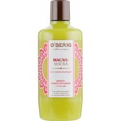 """Масло-маска """"O'BERIG"""" ЯИЧНО-ПАНТЕНОЛОВАЯ с 5 маслами, для поврежденных, сухих, пористых и окрашенных волос, 500 мл"""