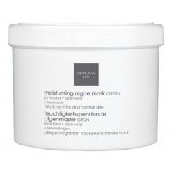 Увлажняющая альгинатная маска зеленая для сухой и нормальной кожи Denova Pro