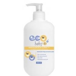 Гель-шампунь для детей «EcoBaby 0+» с экстрактом ромашки и маслом пшеницы 250 мл